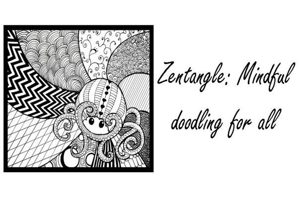 Zentangle art classes ACFL black and white meditation