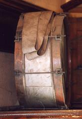 drum with sticks and slings