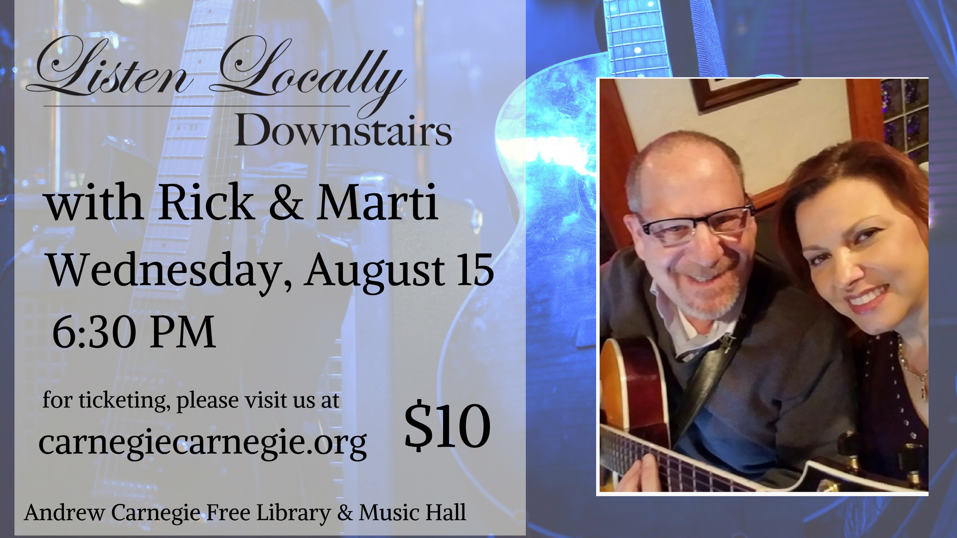 Listen Locally Downstairs with Rick and Marti