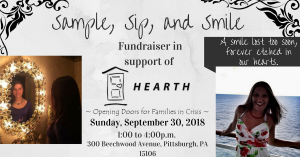 sample sip and smile fundraiser