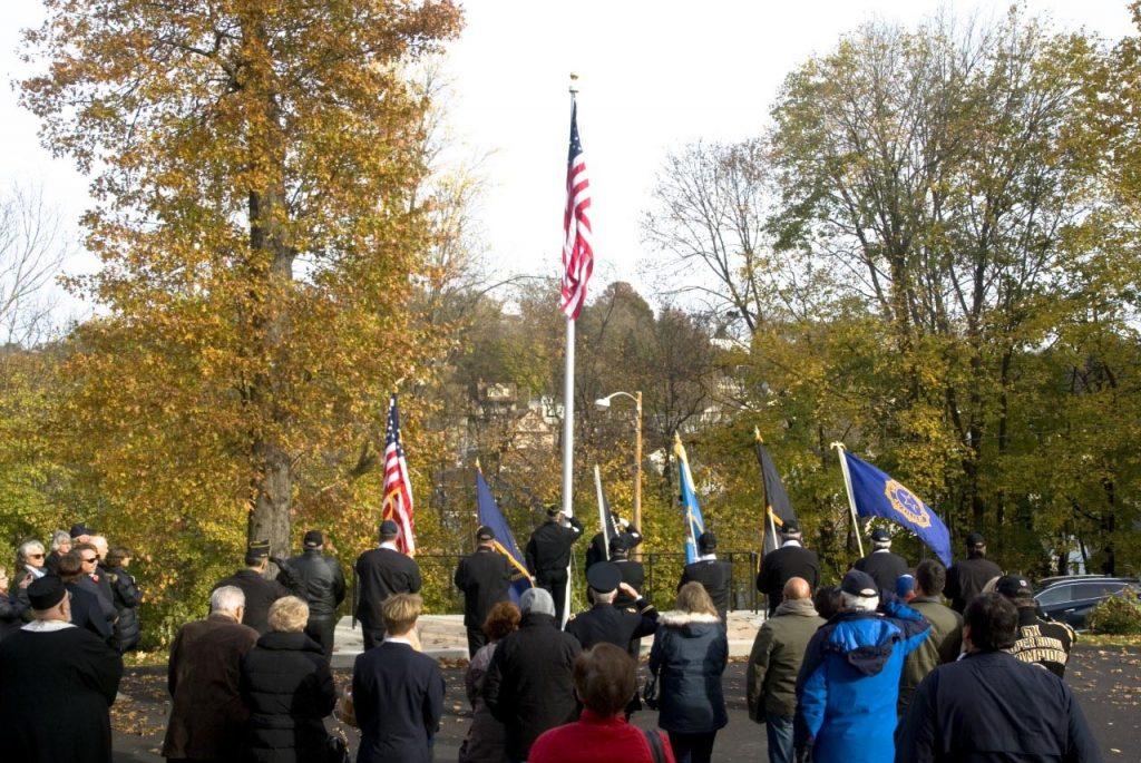 Veteran's Day flag ceremony