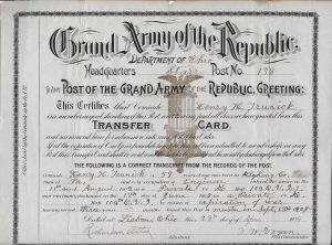 Trunick Transfer Card