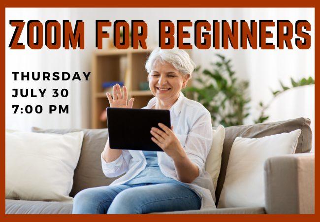 Zoom beginner class