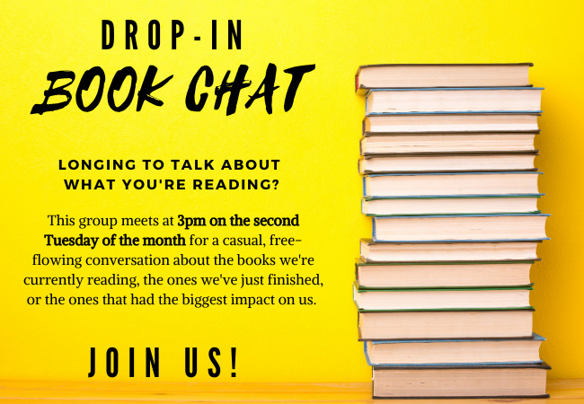 Drop in for book chat