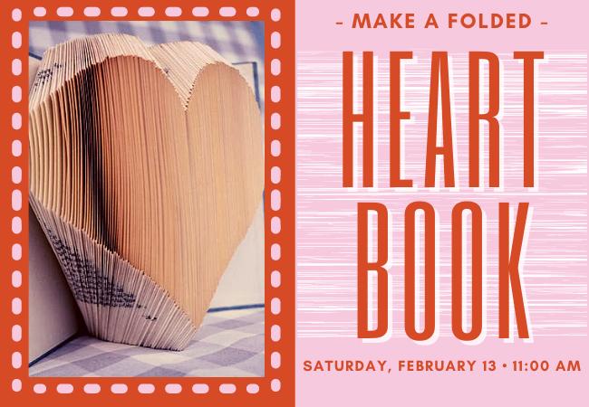 folded heart book