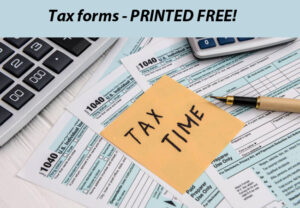 Tax forms printed free