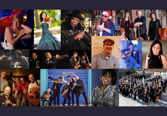 Collage of Listen Locally Musicians