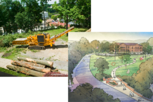 Library Park Construction and Rendering